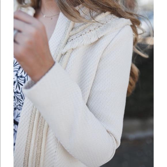 Sezane Jackets & Blazers - Sezane White Tweed Jacket